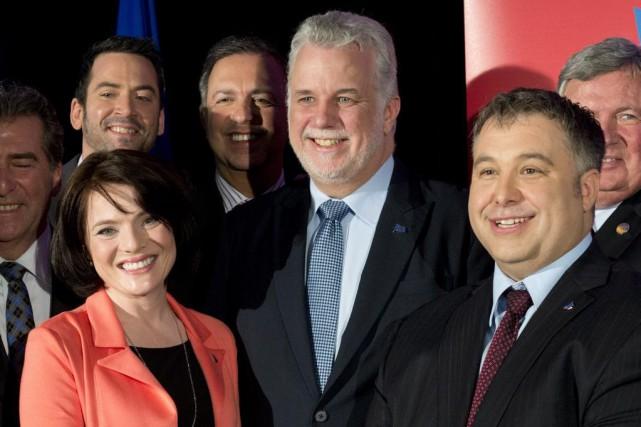 En présentant ses candidats, mardi, en conférence de... (Photo La Presse Canadienne)