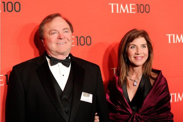 Harold Hamm etSue Ann lors du gala annuel... (Archives AP)