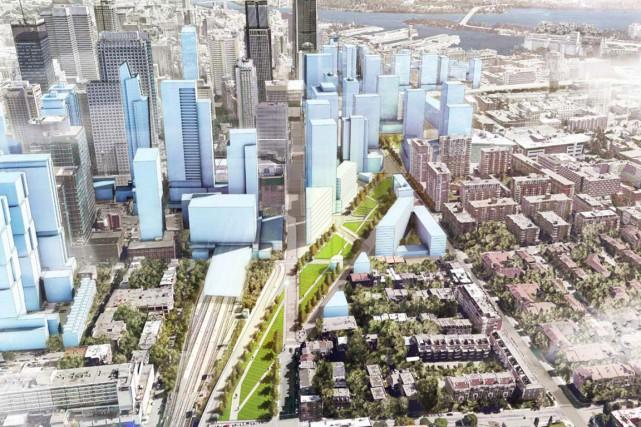 Le projet de «parc Ville-Marie»... (ILLUSTRATION FOURNIE PAR LA VILLE DE MONTRÉAL)