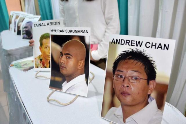 Furieuse contre l'exécution de ses deux ressortissants Andrew... (PHOTO BAY ISMOYO, AFP)