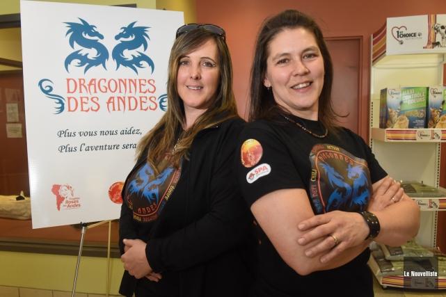 Nancy Tessier et Linda Larsen participeront au rallye... (Photo: François Gervais Le Nouvelliste)