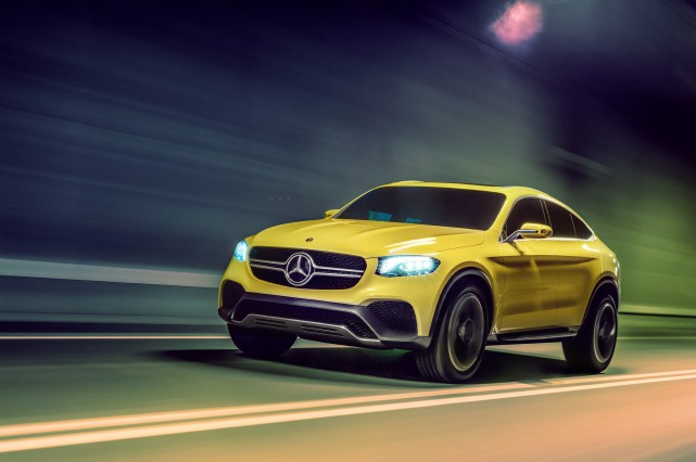 Le Mercedes GLC Coupé concept... (PHOTO FOURNIE PAR MERCEDES-BENZ)