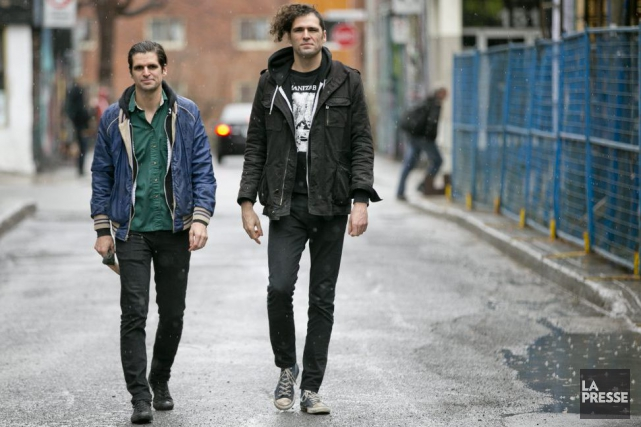 Guillaume et Maxime Chiasson, membres du groupe Ponctuation.... (Photo: David Boily, La Presse)