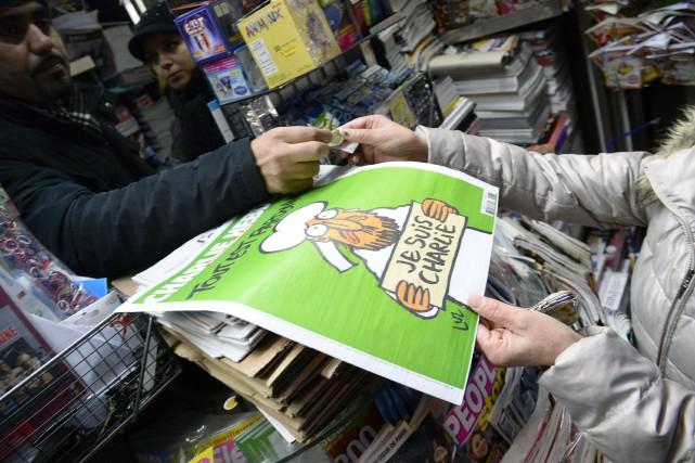 Le numéro des «survivants» de Charlie Hebdo, avec... (Photo d'archives, Agence France-Presse)