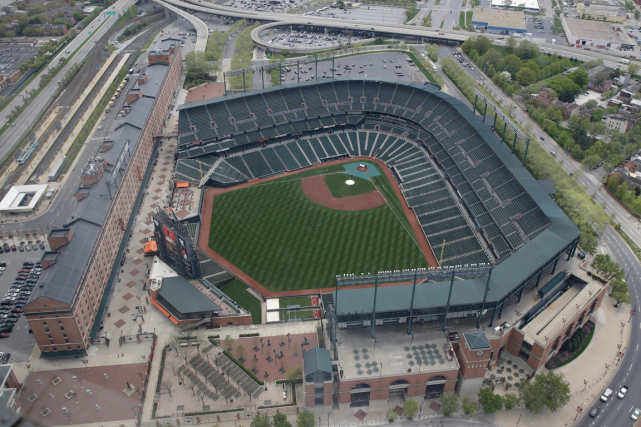 Camden Yards, le stade des Orioles de Baltimore.... (Photo Patrick Semansky, AP)