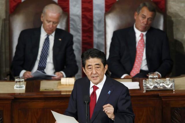 Jamais un dirigeant japonais n'avait prononcé de discours... (PHOTO JONATHAN ERNST, REUTERS)