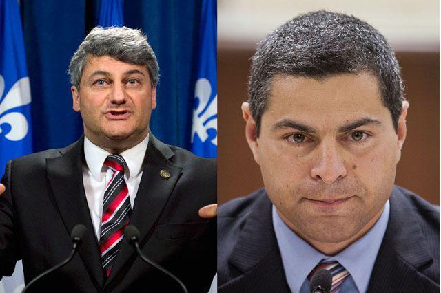 Les candidats conservateiurs Gérard Deltell et Alain Rayes... (PHOTO ARCHIVES LA PRESSE CANADIENNE ET LA PRESSE)