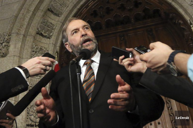 Thomas Mulcair... (PHOTO ÉTIENNE RANGER, archives LE DROIT)