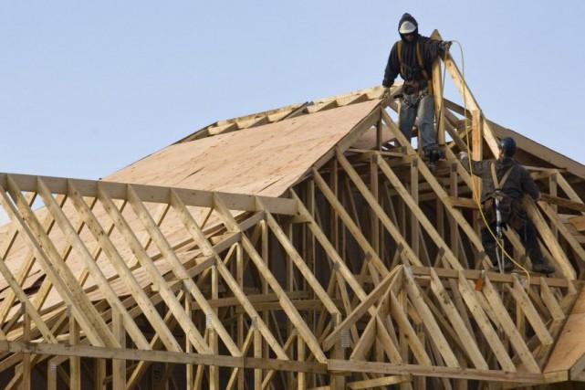 Les mises en chantier de logements aux États-Unisse... (Photo Norm Betts, archives Bloomberg)