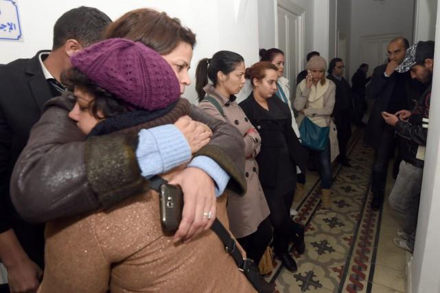 L'équipe de la chaîne Barqa est portée disparue... (PHOTO FETHI BELAID, AFP)