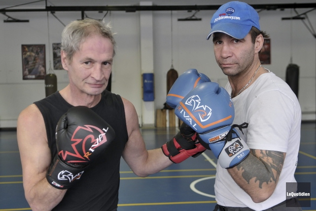 Carl Morais et Stéphane Ouellet sont à l'entraînement... ((Photo Le Quotidien-Rocket Lavoie))