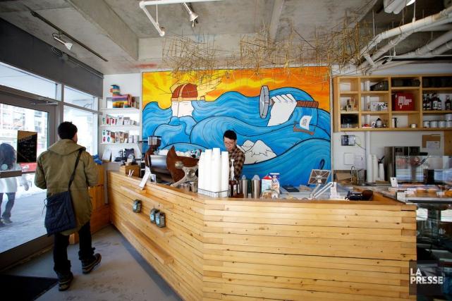 Le Thor Espresso Bar offre un excellent café,... (PHOTO SARAH MONGEAU-BIRKETT, LA PRESSE)