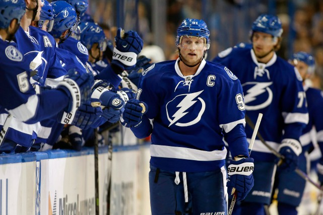 Steven Stamkos a marqué 43 buts cette saison.... (PHOTO MIKE CARLSON, ARCHIVES ASSOCIATED PRESS)