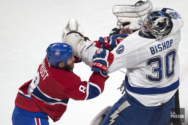Le 16 mars, Brandon Prust s'en était pris... (PHOTO ROBERT SKINNER, ARCHIVES LA PRESSE)