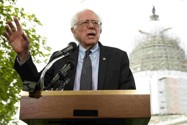 Le sénateur du Vermont Bernie Sanders, leseul élu... (PHOTO JONATHAN ERNST, REUTERS)