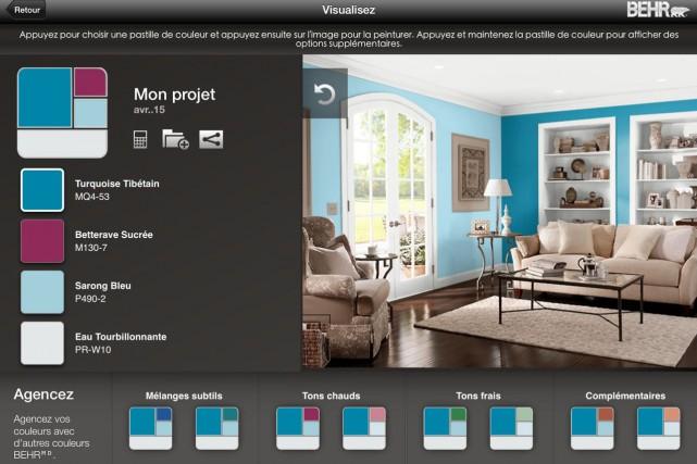 L'application ColorSmartpermet de choisir une pièce à peindre... (Image tirée de l'application)