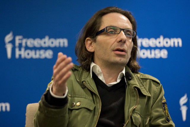 Jean-Baptiste Thoret, critique cinéma à Charlie Hebdo.... (Photo ANDREW CABALLERO-REYNOLDS, AFP)