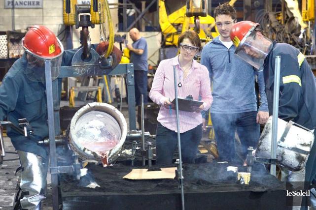La fonderie, bientôt dirigée par Geneviève et Bryan... (Photo Le Soleil, Jean-Marie Villeneuve)