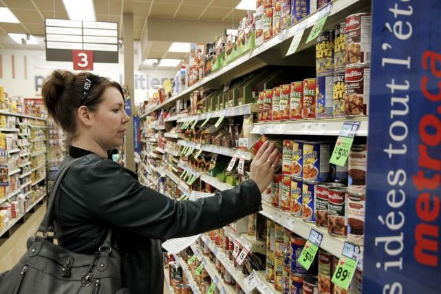 La visite à l'épicerie s'est transformée en véritable... (photo Julie Catudal)