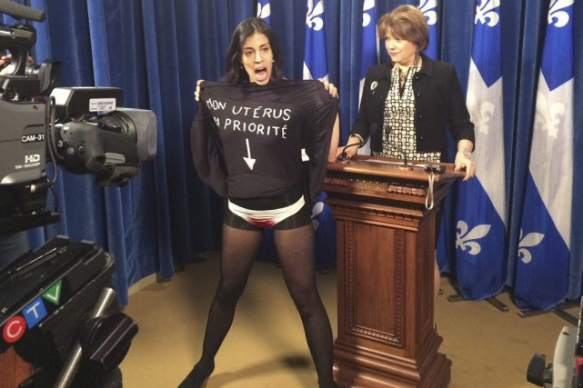 Une Femen a perturbé le point de presse... (PHOTO ARCHIVES LA PRESSE CANADIENNE)