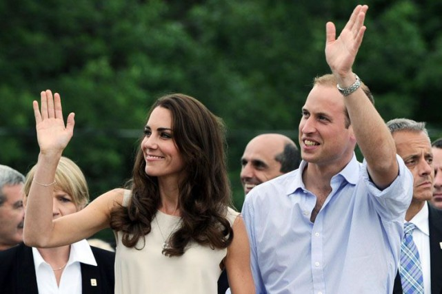 Le prince William et Kate Middleton ont visité... (Archives, La Presse Canadienne)
