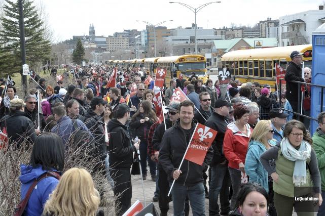 La Fête internationale des travailleurs a été marquée... ((Photo Le Quotidien-Rocket Lavoie))