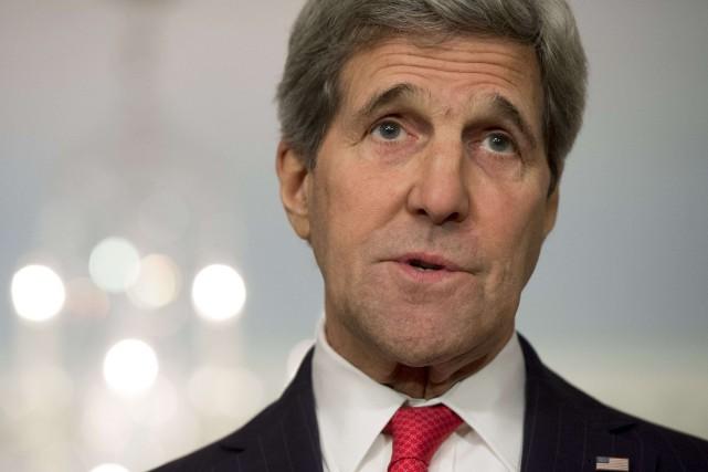 Le secrétaire d'État américain, John Kerry... (PHOTO SAUL LOEB, REUTERS)