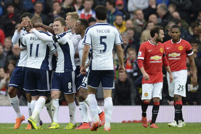 West Bromwich a pris l'avantage à la 63e minute... (PHOTO OLI SCARFF, AFP)