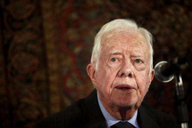 L'ancien président américain, Jimmy Carter.... (PHOTO THOMAS COEX, AFP)