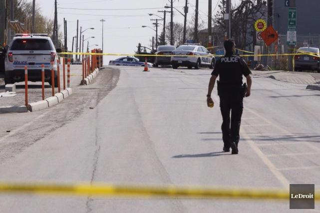 Le Service de police d'Ottawa a érigé un... (Simon Séguin-Bertrand, LeDroit)