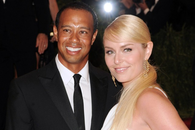 Le golfeur Tiger Woods et la skieuse Lindsey... (Photo Evan Agostini, archives AP)