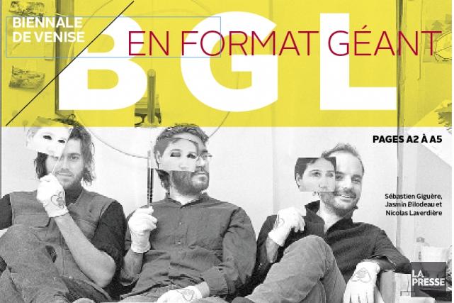 Le trio BGL: Sébastien Giguère, Jasmin Bilodeau et...