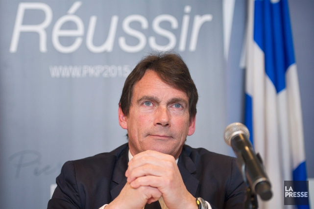Pierre Karl Péladeau a esquissé son plan de convergence... (PHOTO GRAHAM HUGUES, ARCHIVES PC)