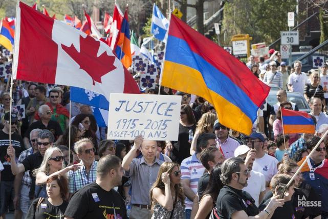 Pour cet événement pacifique, plusieurs groupes québécois, dont... (PHOTO ROBERT SKINNER, LA PRESSE)