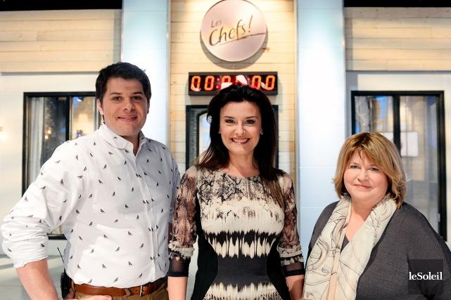 C'est Chantal Fontaine (au centre) qui animera l'émission... (Photo Le Soleil, Érick Labbé)