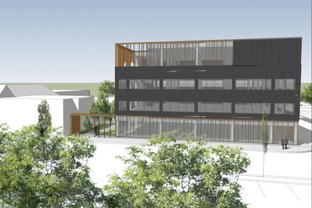 Les esquisses du futur immeuble de Revenu Québec,... ((Courtoisie))
