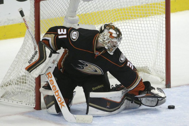 Frederik Andersen... (Photo Jae C. Hong, AP)