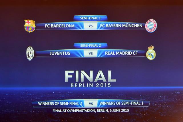 Les demi-finales de la Ligue des champions proposent une nouvelle fois un... (PHOTO FABRICE COFFRINI, AFP)