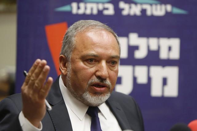 Le ministre israélien des Affaires étrangères Avigdor Lieberman.... (PHOTO GALI TIBBON, AFP)