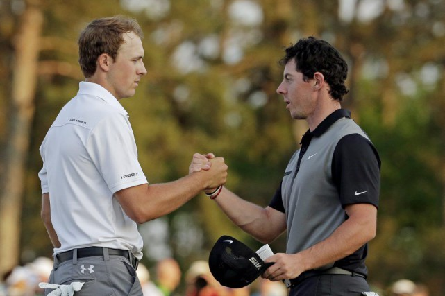 Jordan Spieth et Rory McIlroy... (PHOTO CHARLIE RIEDEL, ARCHIVES AP)