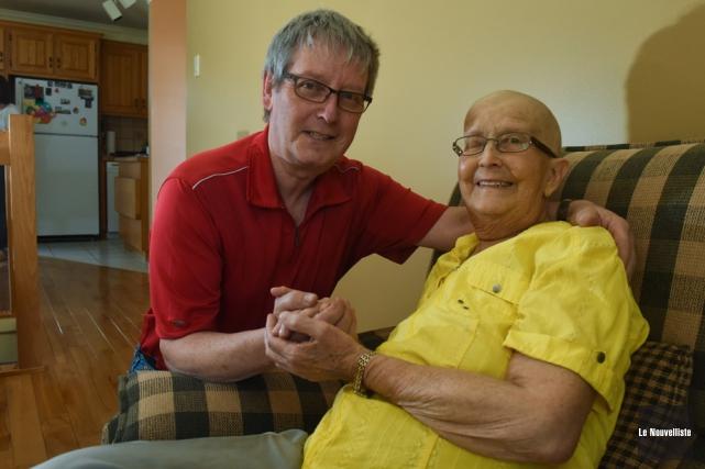 Lisette Touzin qui reçoit des soins palliatifs à... (Photo: François Gervais, Le Nouvelliste)