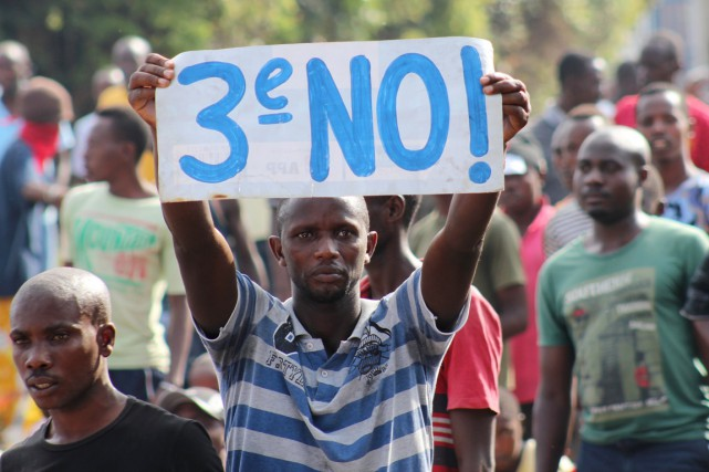 La candidature de Pierre Nkurunziza à la présidentielle... (PHOTO JEAN PIERRE AIME HARERIMANA, REUTERS)