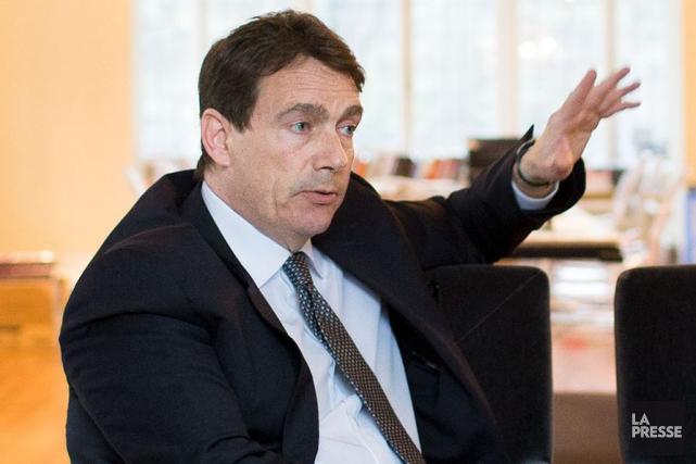 Pierre Karl Péladeau, dans sa résidence montréalaise... (Photothèque La Presse)