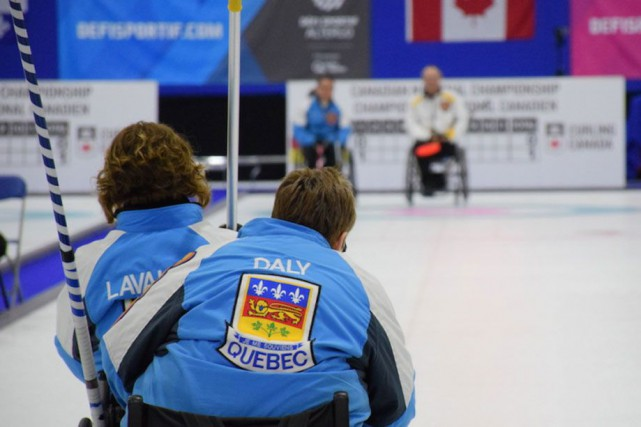 L'hiver, Christine Lavallée excelle sur la glace. Une fois l'été arrivé, elle... (Photo courtoisie Morgan Daw - Curling Canada)