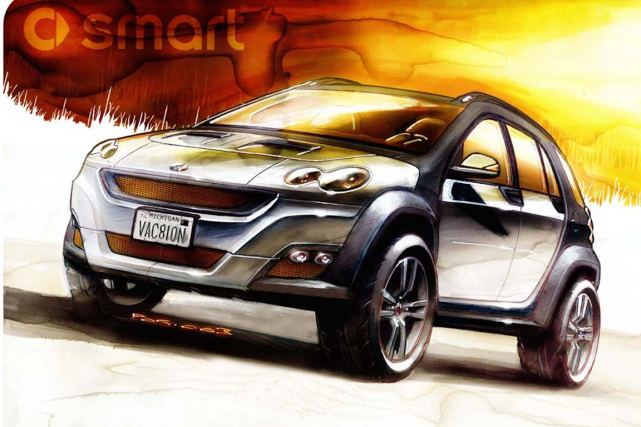 Le multisegment Smart ForMore, qui devait être présenté... (Photo fournie par le constructeur)