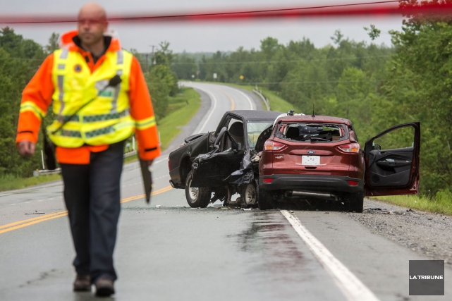 Les accidents de la route ont causé 22 décès en Estrie lors de l'année 2014,... (Archives La Tribune, Jocelyn Riendeau)