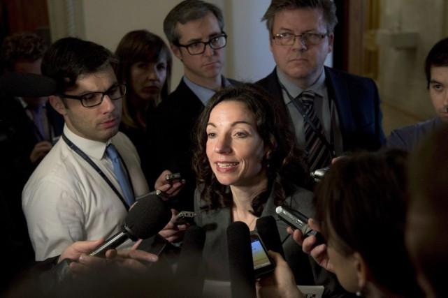 La députée de Vachon a affirmé mardi que... (PHOTO JACQUES BOISSINOT, LA PRESSE CANADIENNE)