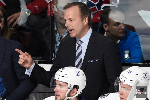 L'entraîneur du Lightning de Tampa Bay, Jon Cooper.... (Photo Bernard Brault, La Presse)