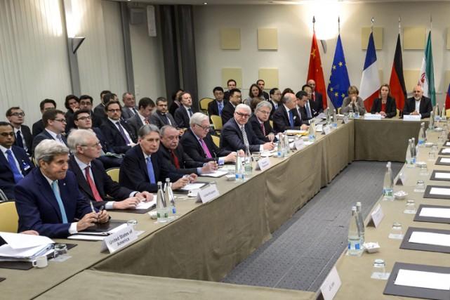 Après l'accord du 2 avril, les négociateurs doivent... (Photo: AFP)