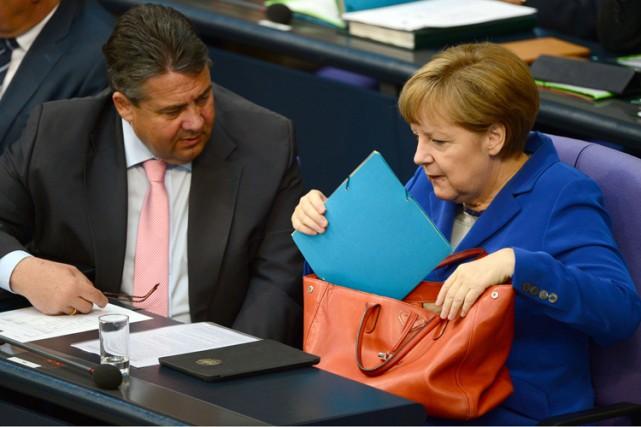 Actuellement au pouvoir avec la chancelière Angela Merkel,... (Photo: AFP)